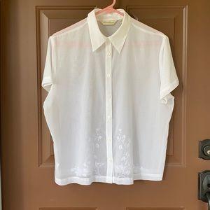 Size XL Misses, sheer 100% Cotton Blouse